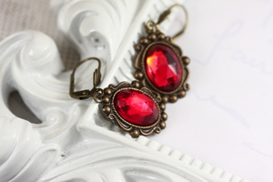 Red Earrings, perfect for the French Themed Bracelet