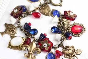 French Theme Charm Bracelet